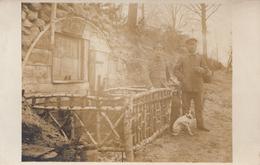 CARTE PHOTO ALLEMANDE - GUERRE 14-18 - CRAONNE (AISNE) - BLOCKHAUS ALLEMAND - Guerre 1914-18