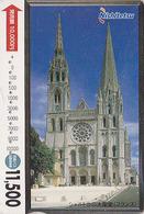 Carte Prépayée Japon - CATHEDRALE DE CHARTRES / FRANCE - Site Religion - CHURCH Japan Prepaid Card - Culture