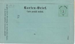 ÖSTERREICH 1886 - KB 7a  Rumänisch  Nicht Gelaufen - Interi Postali