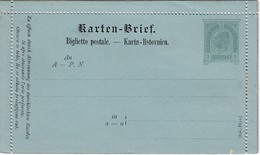ÖSTERREICH 1890 - KB 18  Italienisch / Illyrisch  Nicht Gelaufen - Postwaardestukken