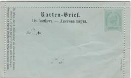 ÖSTERREICH 1890 - KB 19  Polnisch / Ruthenisch  Nicht Gelaufen - Postwaardestukken