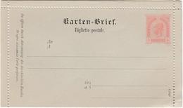 ÖSTERREICH 1890 - KB 24  Italienisch  Nicht Gelaufen - Postwaardestukken