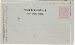 ÖSTERREICH 1890 - KB 28  Rumänisch  Nicht Gelaufen - Postwaardestukken