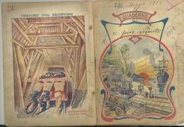 QUADERNO  TRAFORO  DEL  SEMPIONE  GENOVA  USATO  SCRITTO ANNO 1925 - Altre Collezioni