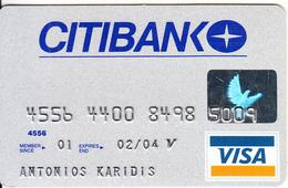 GREECE - CitiBank Visa(reverse Oberthur), 11/01, Used - Geldkarten (Ablauf Min. 10 Jahre)