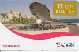 -CARTE-PREPAYEE-QUATAR-10QR-PAYSAGE-TBE-RARE - Qatar