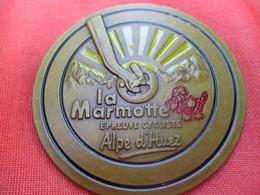 Médaille De Sport/Cyclisme/Epreuve Cycliste/ La Marmotte/ ALPE D'HUEZ//vers 1980      SPO295 - Cyclisme