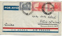ARGENTINA 1938 Cover Sent To Basel 3 Stamps COVER USED - Argentine