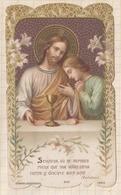 8AK2519 Image Religieuse Pieuse COMMUNION N D DE LUVIERS 1908 LECLERC DESGODETS - Devotion Images
