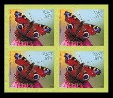 24.- ESTONIA 2014 Bookletl. The European Peacock Butterfly - Mariposas