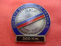 Médaille De Sport/Cyclisme/Brevets Randonneurs Français/Cinquantenaire/300 Km/ ACP/FIA LYON/1971      SPO299 - Cyclisme