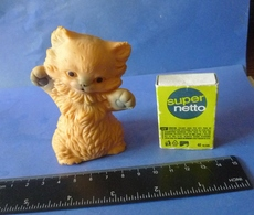 VTG Vintage USSR Soviet Rubber Toy CAT Kitten Soviet Union Toys Marked - Cats