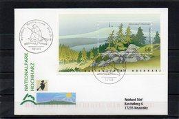 Deutschland, 2002, FDC (individuell), Mit Michel Block 59, Echt Gelaufen, Nationalpark Hochharz - FDC: Covers