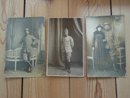 3 Cpa Militaires En Pause Et épouse - Weltkrieg 1914-18
