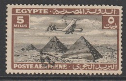 Egypt 1933 Airmail - Airplane Over Pyramids Of Giza 8 M  Violet SW 180 O Used - Egypt