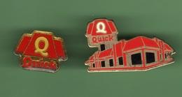 QUICK *** Lot De 2 Pin's Differents *** TGT-01 - McDonald's