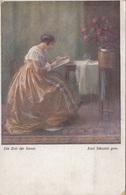Künstlerkarte DIE ZEIT DER ROSEN, Gel.1920, Stempel Marienbad - Künstlerkarten