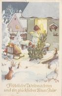 Künstlerkarte Weihnachtsmotiv, Gel.1952 - Künstlerkarten