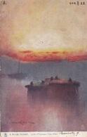 Künstlerkarte A RIVER SUNSET, Gel.1925 - Künstlerkarten