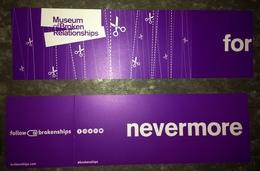 Zagreb, Croatia. One Ticket Of The Museum Of Broken Relationships. - Tickets - Vouchers