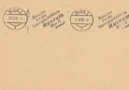 ÖSTERREICH 1956 - Werbestempel Auf Pk - Enteros Postales