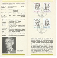 België   O.B.C.  Postfolder  Nr 18  -  1970    1557 / 1560   Personaliteiten    Antwerpen - Documenti Della Posta