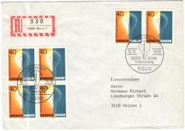 GERMANIA - GERMANY - Deutschland - ALLEMAGNE - 1979 - Energie Sparen - FDC - Bonn - Einschreiben - Registered - FDC: Briefe