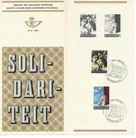 België   O.B.C.  Postfolder  Nr 21  -  1970    1564 / 1565  Solidariteit    Brussel-Bruxelles - Documents De La Poste