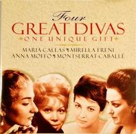 GREAT DIVAS. Callas, Freni, Moffo, Caballé. 1Cd. Disky. 1977. - Opera