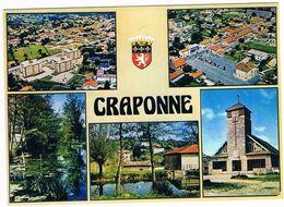 CRAPONNE . 69 . Multivue Avec 5 Photos Et Blason .1985 - Other Municipalities