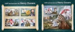 Z08 DJB18406ab Djibouti 2018 Henry Dunant MNH ** Postfrisch Set - Dschibuti (1977-...)
