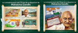 Z08 DJB18414ab Djibouti 2018 Mahatma Gandhi MNH ** Postfrisch Set - Djibouti (1977-...)