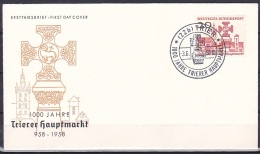 FRG/1958 - Trier Market Millenary/1000 Jahre Trierer Hauptmarkt - 20 Pf - FDC '(22b) TRIER' - [7] Repubblica Federale