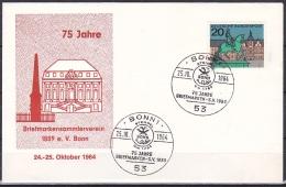 FRG/1964 - Capital Of Federal Lands/Hauptstadte Der Lander - 20 Pf Dusseldorf - Cover 'BONN 1, 75 JAHRE BRIEFMARKEN-SV' - [7] Federal Republic
