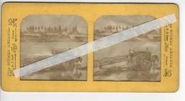 PHOTO STEREO BK PARIS Circa 1865 TRANSPORT DU BOIS /FREE SHIPPING REGISTERED - Stereoscopic