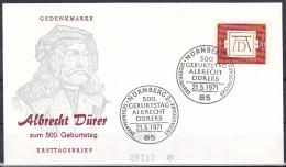 FRG/1971 - Albrecht Durer - 30 Pf - FDC 'NURNBERG 2' - FDC: Covers
