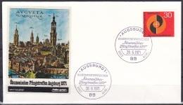 FRG/1971 - Whitsun Ecumenical Meeting/Okumenisches Pfingsttreffen - 30 Pf - FDC 'AUGSBURG 1' - [7] Federal Republic