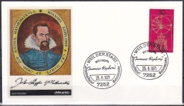 FRG/1971 - Johannes Kepler - 30 Pf - FDC 'WEIL DER STADT' - [7] Federal Republic