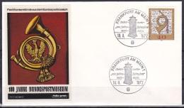 FRG/1972 - Postal Museum Centenary/100 Jahre Postmuseum - 40 Pf - FDC 'FRANKFURT AM MAIN 1' - FDC: Covers