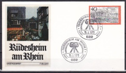 FRG/1973 - Tourism/Fremdenverkehr - 40 Pf Rudesheim Am Rheim - FDC 'RUDESHEIM AM RHEIN 1' - [7] Federal Republic