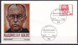 FRG/1973 - Maximillian Kolbe - 40 Pf - FDC - FDC: Covers