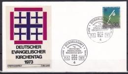 FRG/1973 - Protestant Church Conference/Evangelischer Kirchentag - 30 Pf - FDC 'DUSSELDORF 1' - [7] Federal Republic