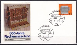 FRG/1973 - Calulating Machine/Rechenmaschine - 40 Pf - FDC 'TUBINGEN 1' - [7] Federal Republic