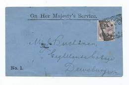 I.r. Official On Official  Cover Victoria 1d Lilac Sgo3 Struck With Bradford Squared Circle - 1840-1901 (Viktoria)