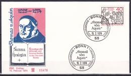 FRG/1974 - St. Thomas Aquinas/Thomas Von Aquin - 40 Pf - FDC - [7] Federal Republic
