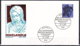 FRG/1975 - Michelangelo - 70 Pf - FDC - [7] Federal Republic