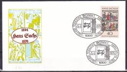 FRG/1976 - Hans Sachs - 40 Pf - FDC - FDC: Covers
