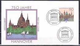 FRG/1991 - Hannover 750th Anniv./750 Jahre Hannover - 60 Pf - FDC - [7] Federal Republic