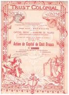 Action Ancienne - Trust Colonial -Action De Capital - Titre De 1899 -N° 136992 - Banque & Assurance