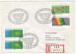 GERMANIA - GERMANY - Deutschland - ALLEMAGNE - 1979 - Nobelpreisträger Hahn, Einstein, Von Laue - FDC - Bonn - Einschrei - FDC: Briefe
